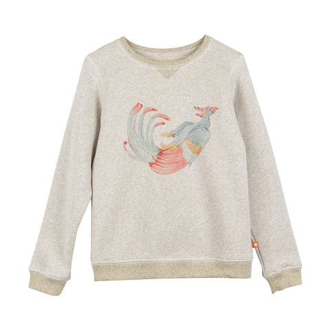 Girls Rosilla Ecru Peacock T Shirt