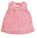 Girls Nadine Sleeveless Blouse Persegi Fushia