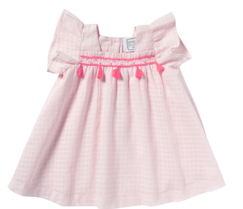 Baby Girl Chelsea Pale Banana Dress