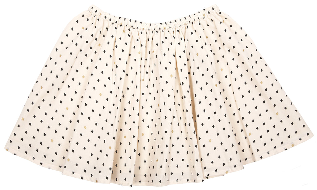Girls Diamond Shape Print SKirt