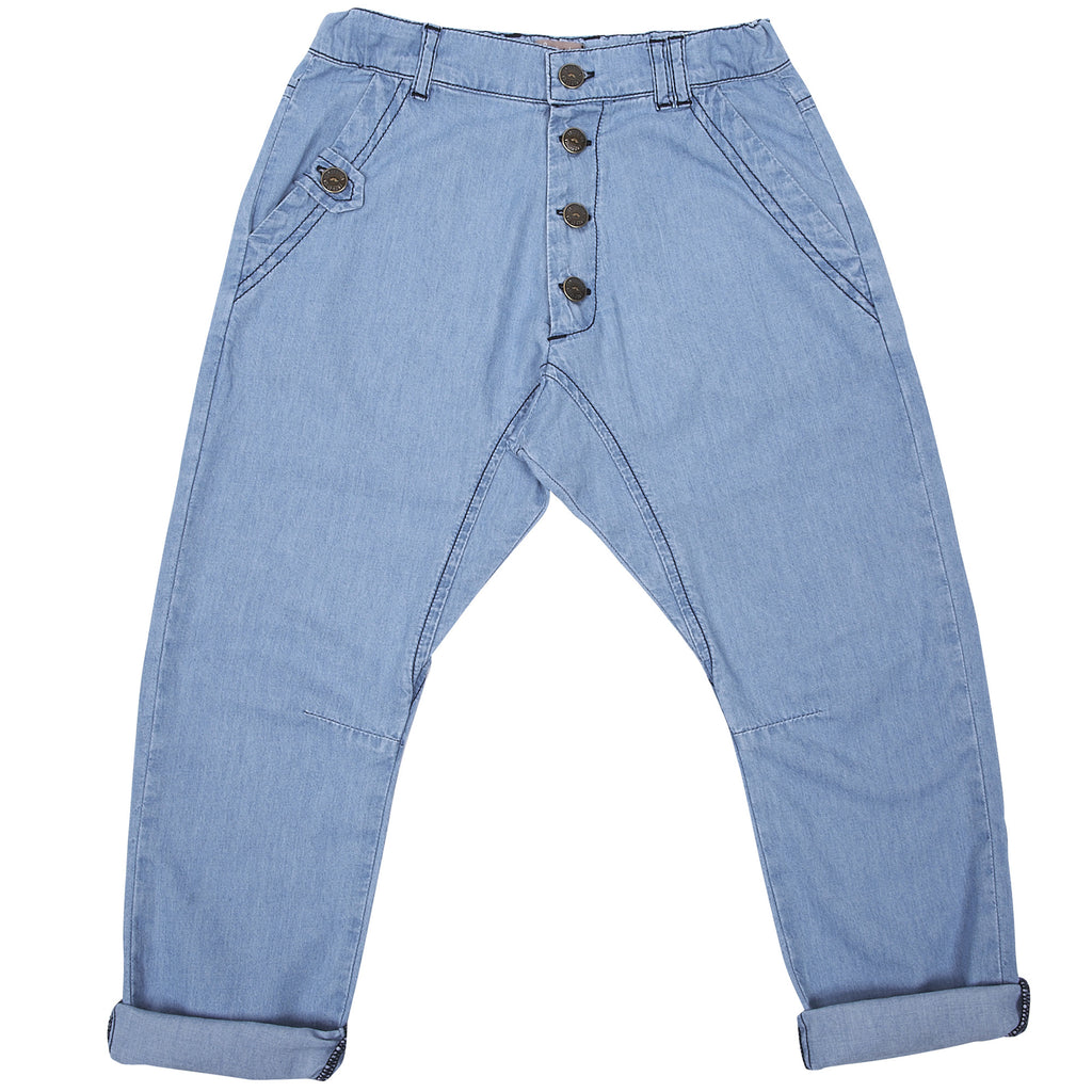 Boys Chambray Trousers