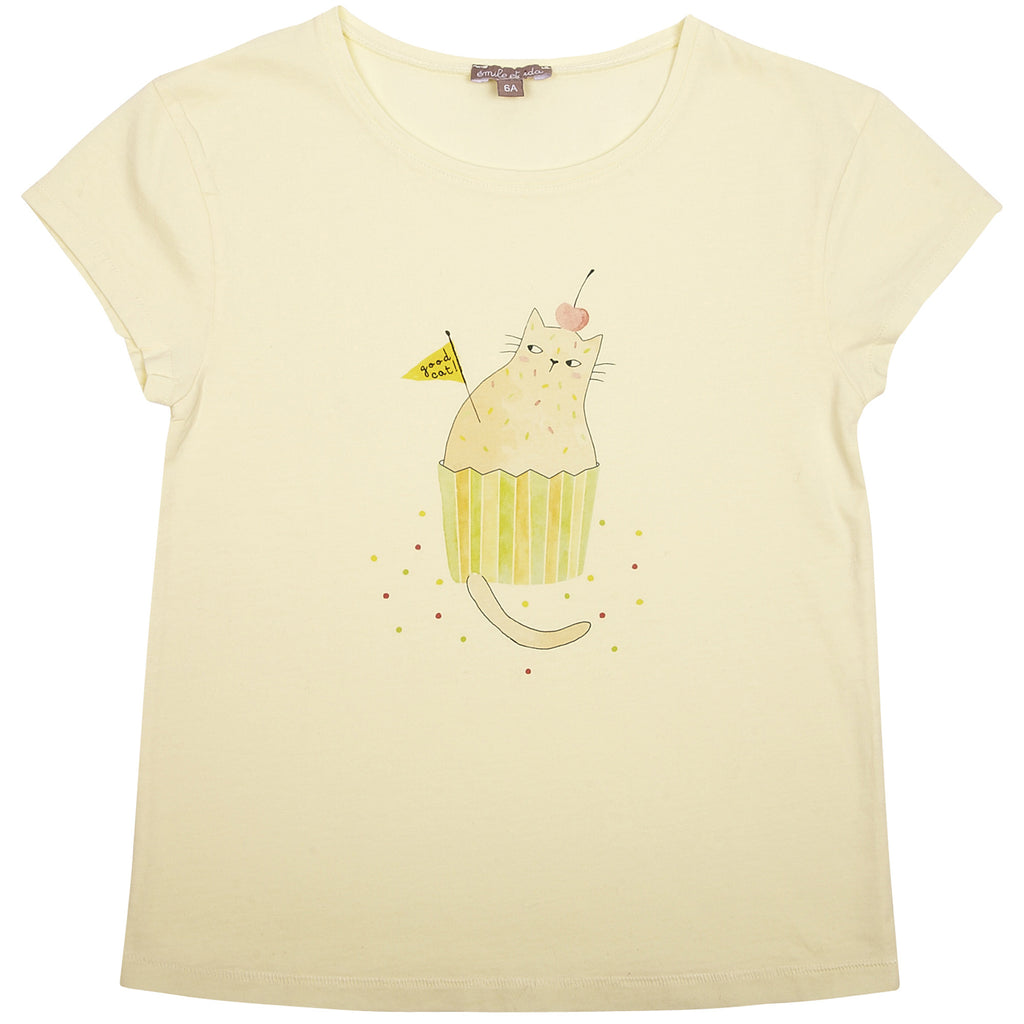 Girls Cat Citron T Shirt