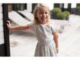 Girls Lison Stripes & Flowers Dress