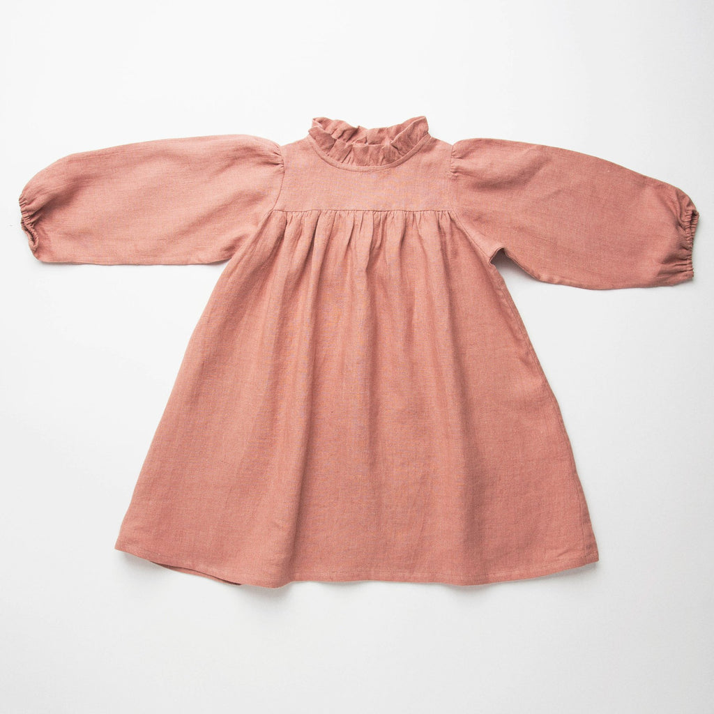 Girls Dusty Rose Marbles Dress