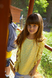 Girls Brigitta Pale Banana Blouse
