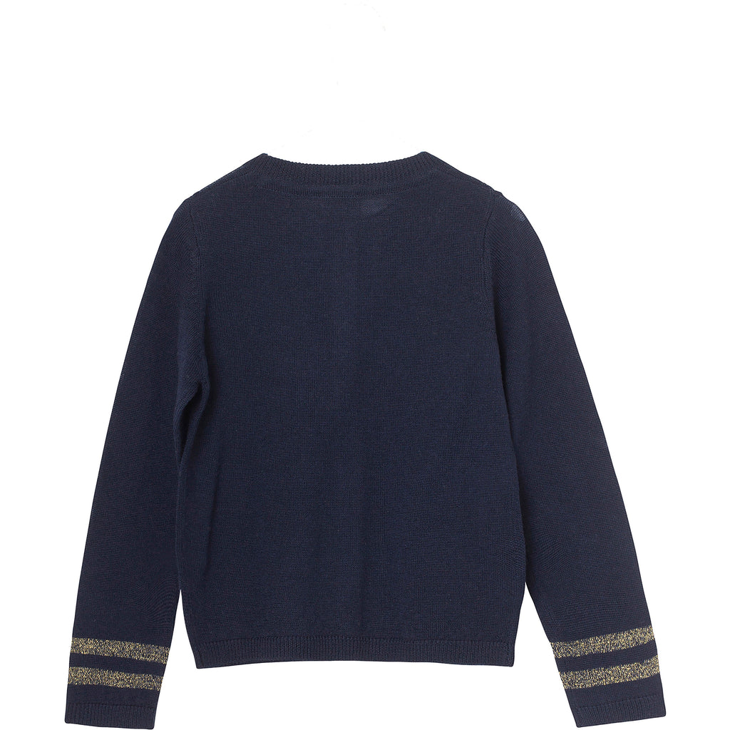 Girls Frances Sky Captain Blue Cardigan