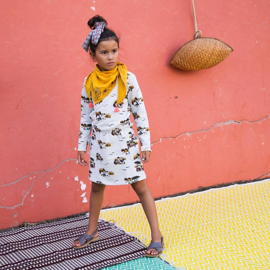Girls Palina Masai Print Dress