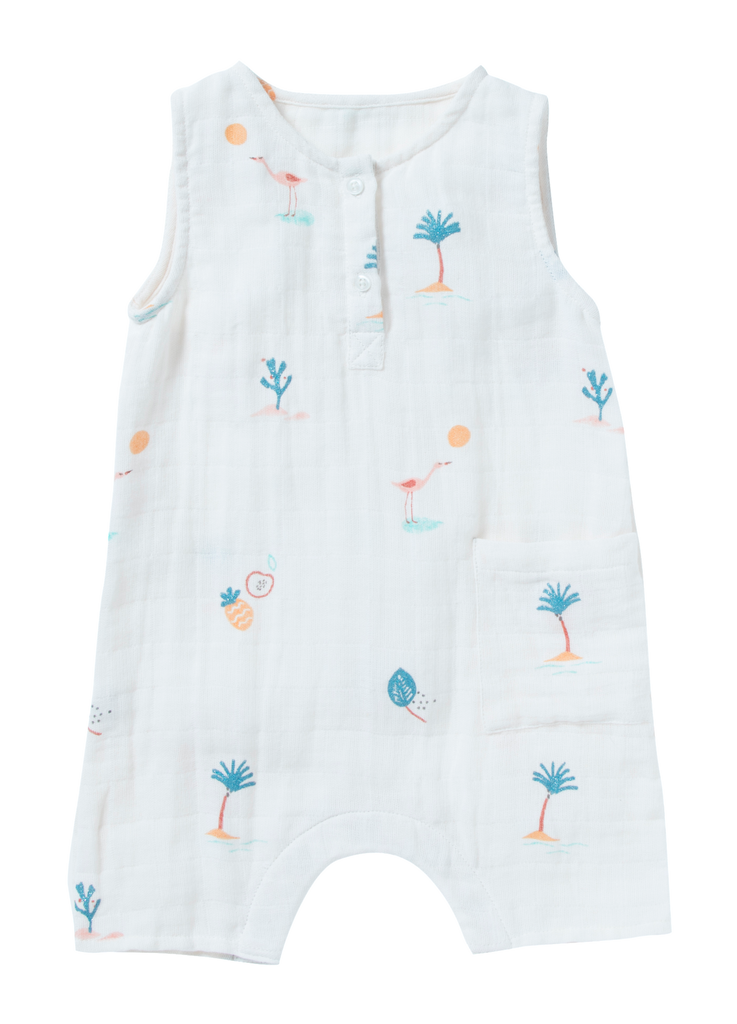 Baby Girl & Boy White Pahoa Romper