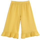 Girls Mustard Yellow Capri Trousers