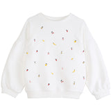 Girls Tutti Fruity Ecru Sweatshirt