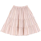 Girls Nude and Lurex Crepe Skirt