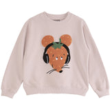 Girls Strawberry Mouse Nude Sweatshirt