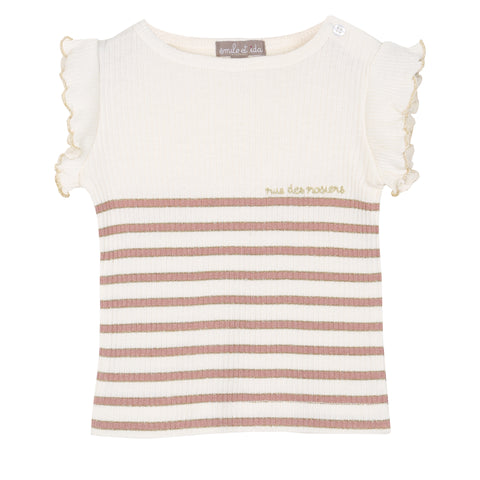 Girls Stripy Lurex & Crepe Overalls
