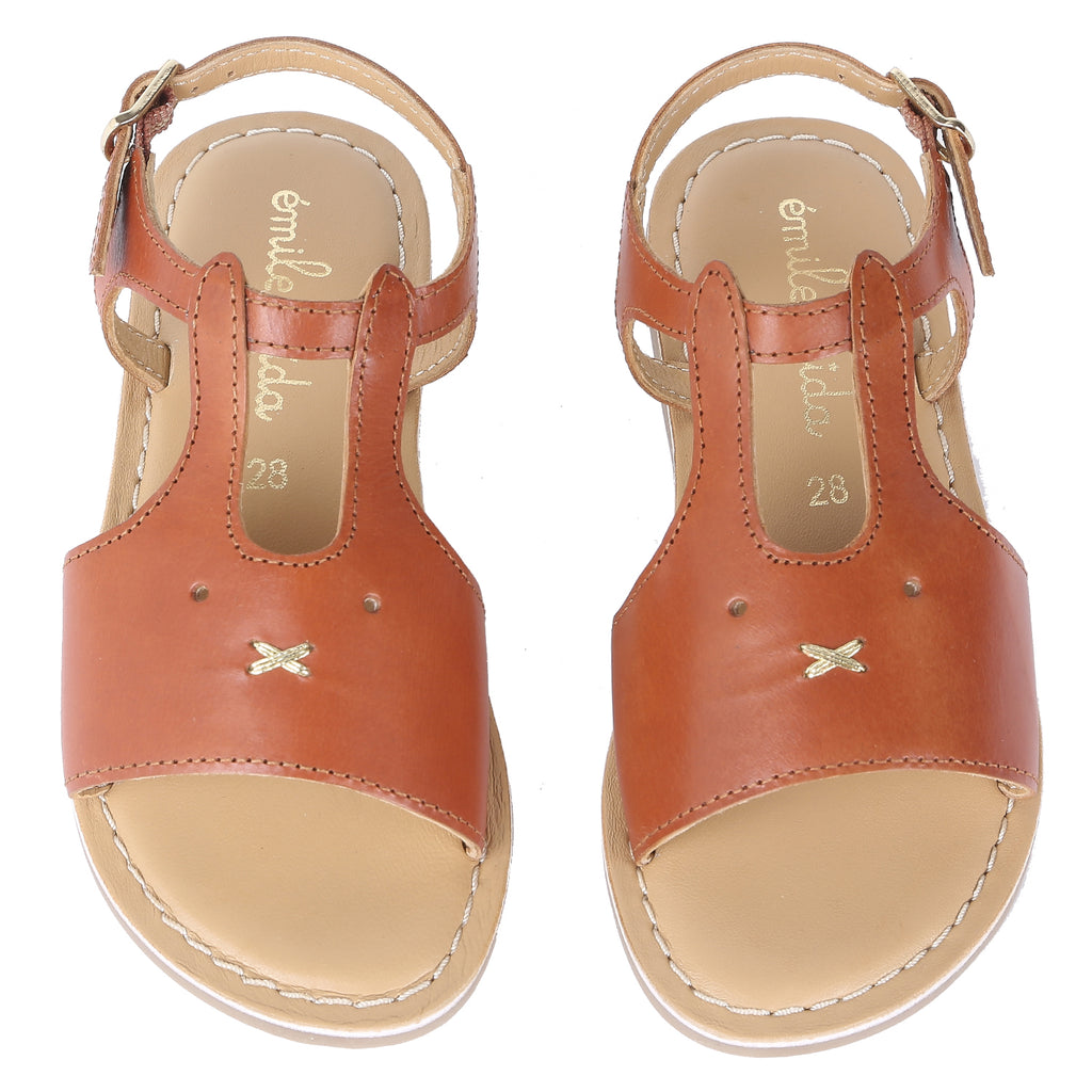 Girls Lapinou Tan Sandals