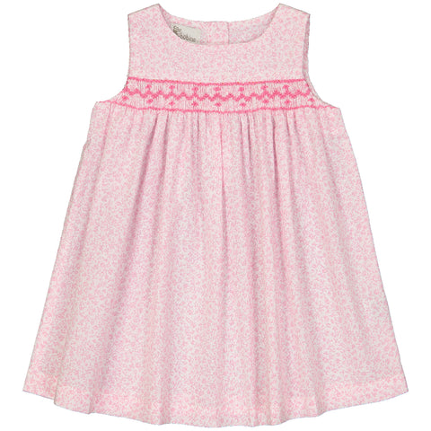 Baby Girl Pink Striped Wool & Cashmere