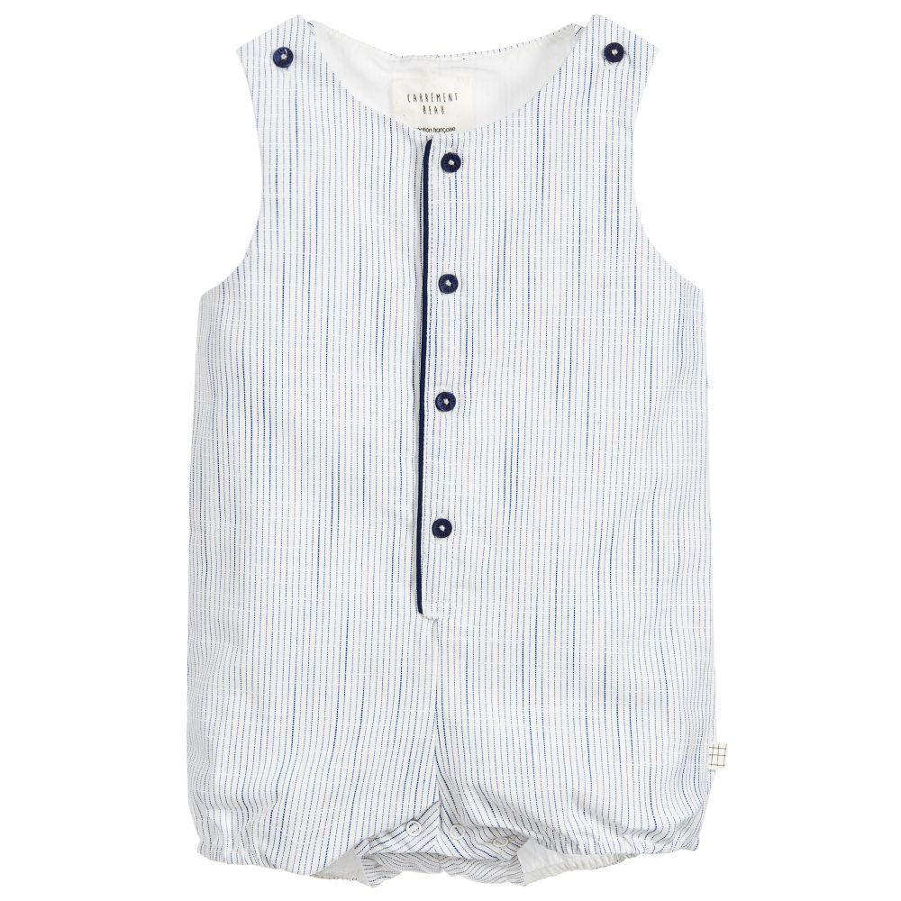 Baby Boy Striped Romper