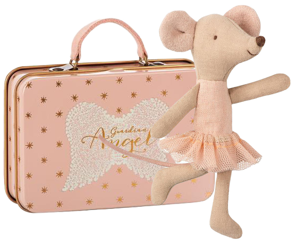 Ballerina Mouse Little Sister Plus Angel suitcase