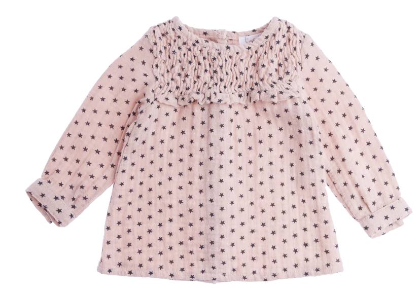 Girls Stars Printed Blouse