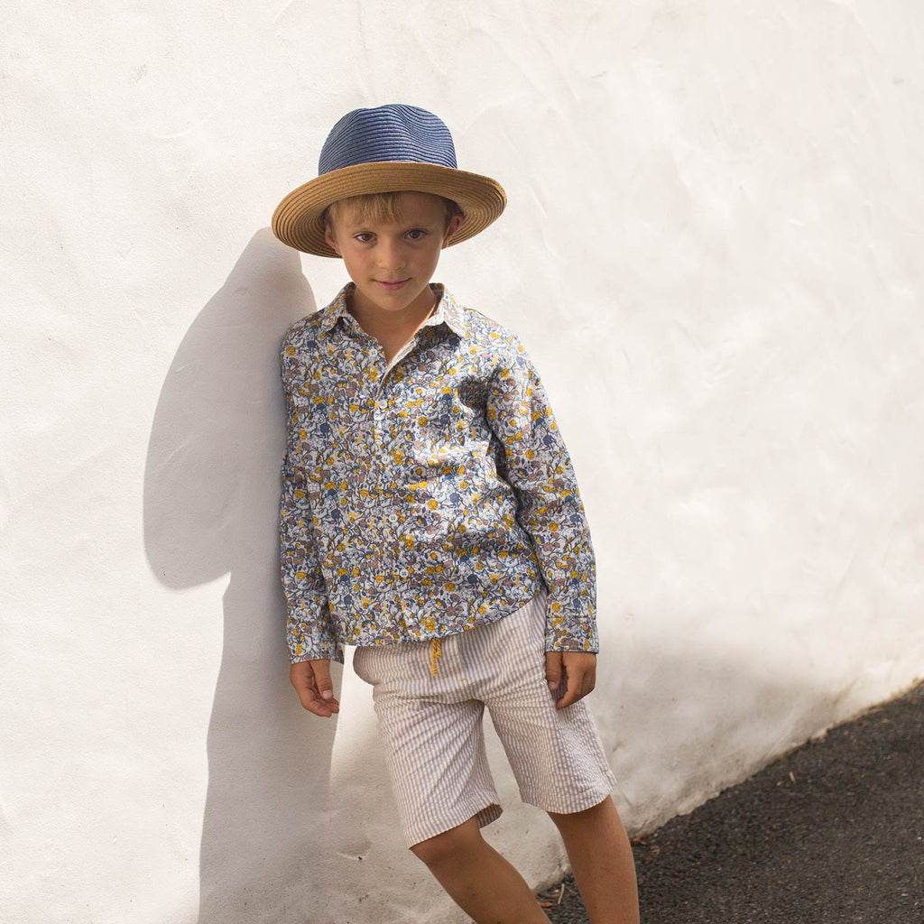 Boys Nathalan Flower Print Shirt