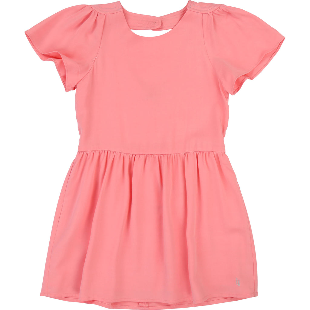 Girls Plain Pink Dress