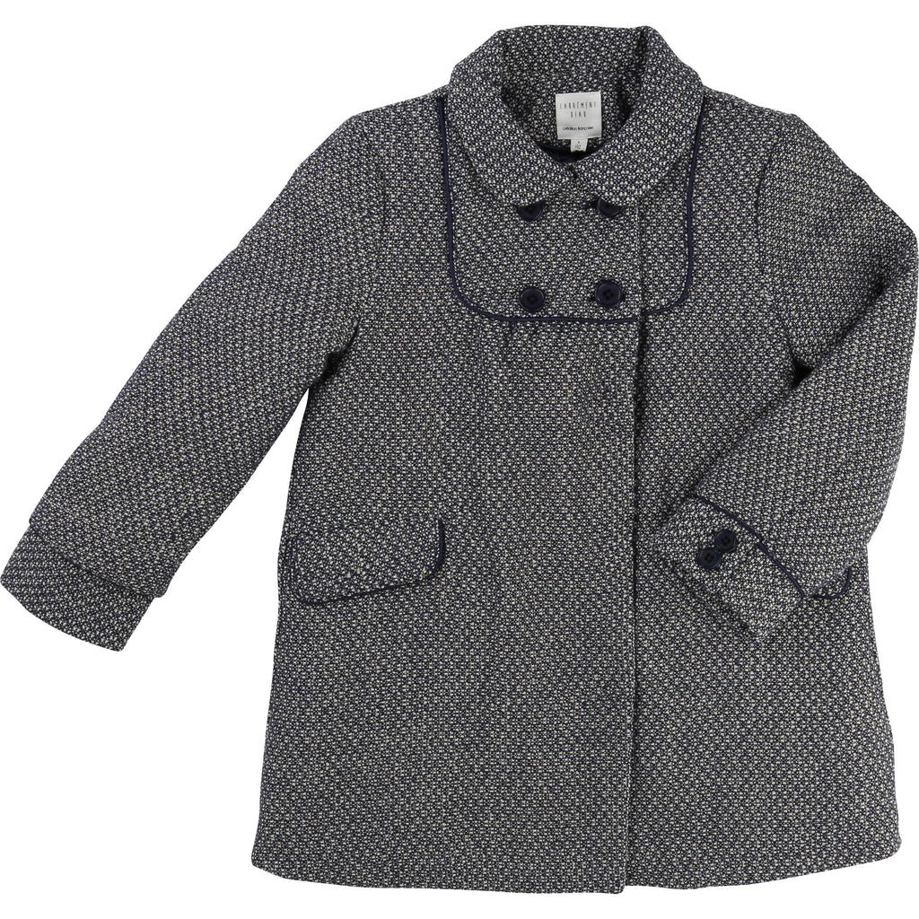 Girls Jacquard Coat