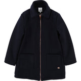 Girls Navy Long Coat