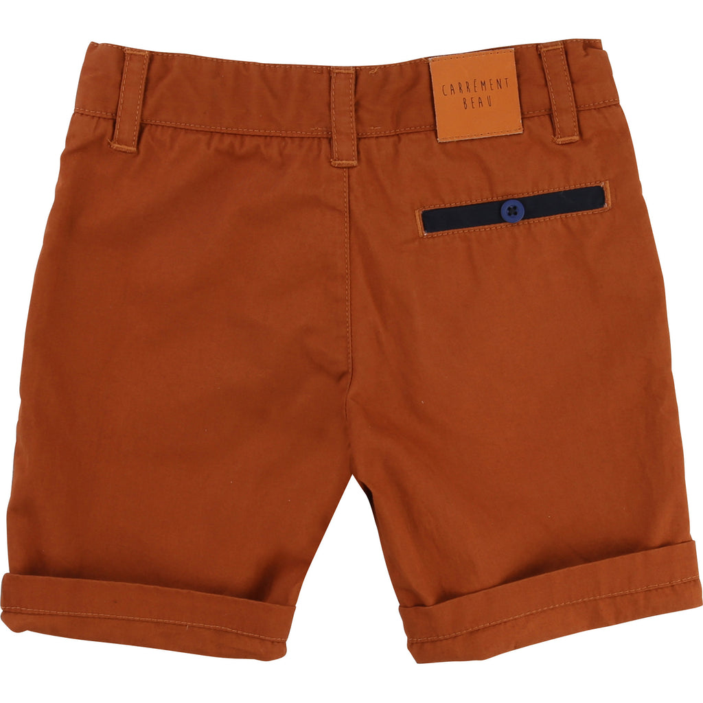 Boys Rust and Navy Shorts