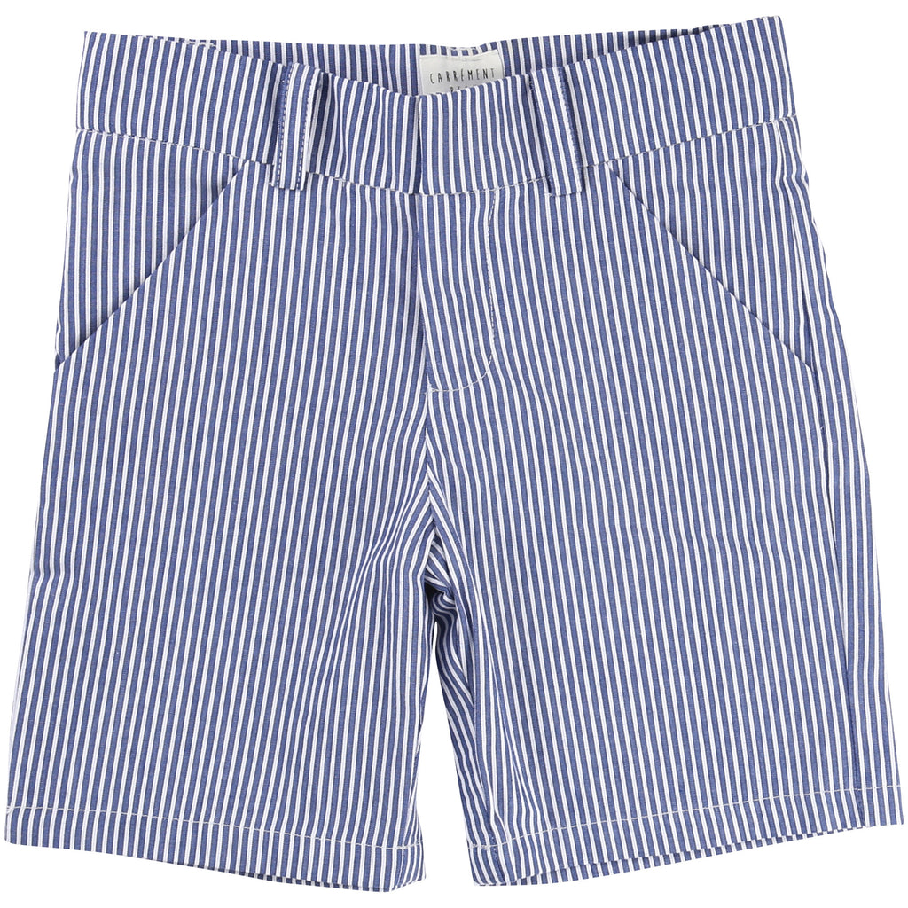 Boys Stripy Blue Shorts