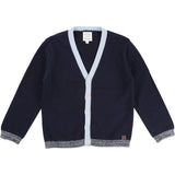 Boys Navy/Baby Blue Cardigan