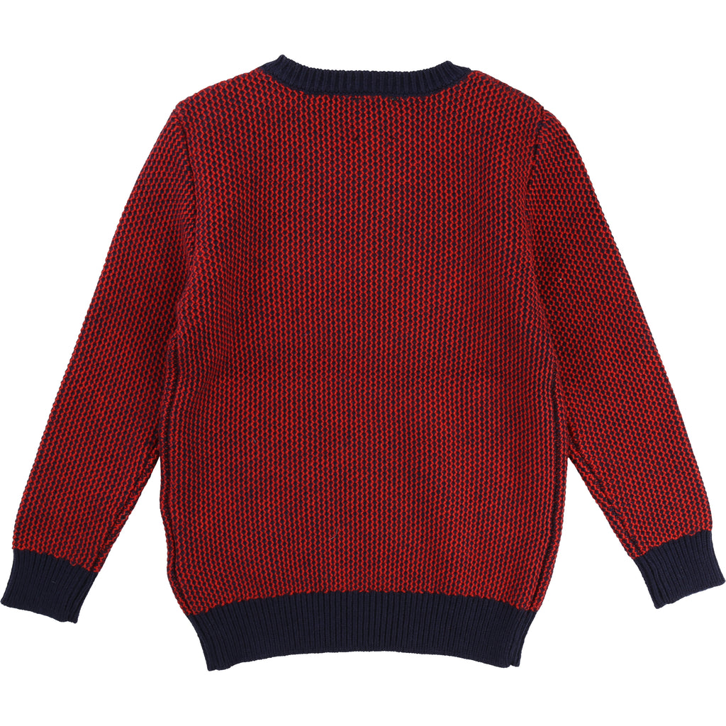 Boys Red Knitted Sweater