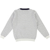Boys White and Navy Blue Jumper