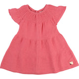Baby Girl Knitted Coral Dress