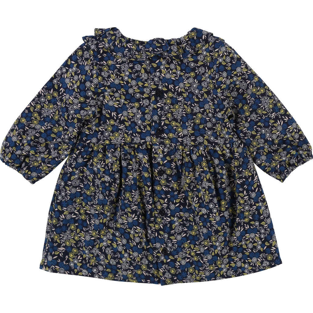 Baby Girl Navy Flower Print Dress