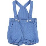 Baby Boy Blue Gingham Romper