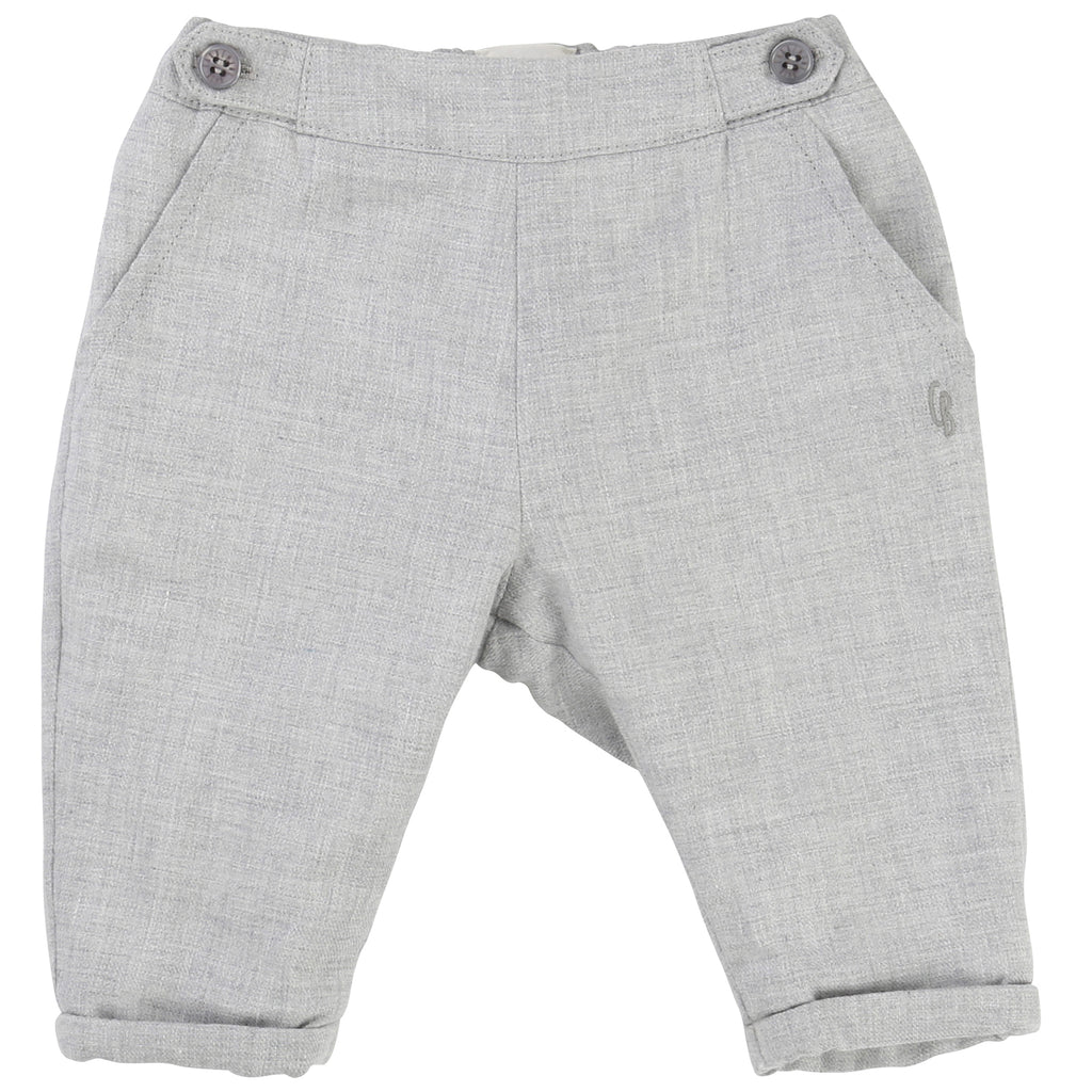 Boys Grey Flannel Trousers