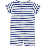 Baby Boys White and Blue Striped Playsuit