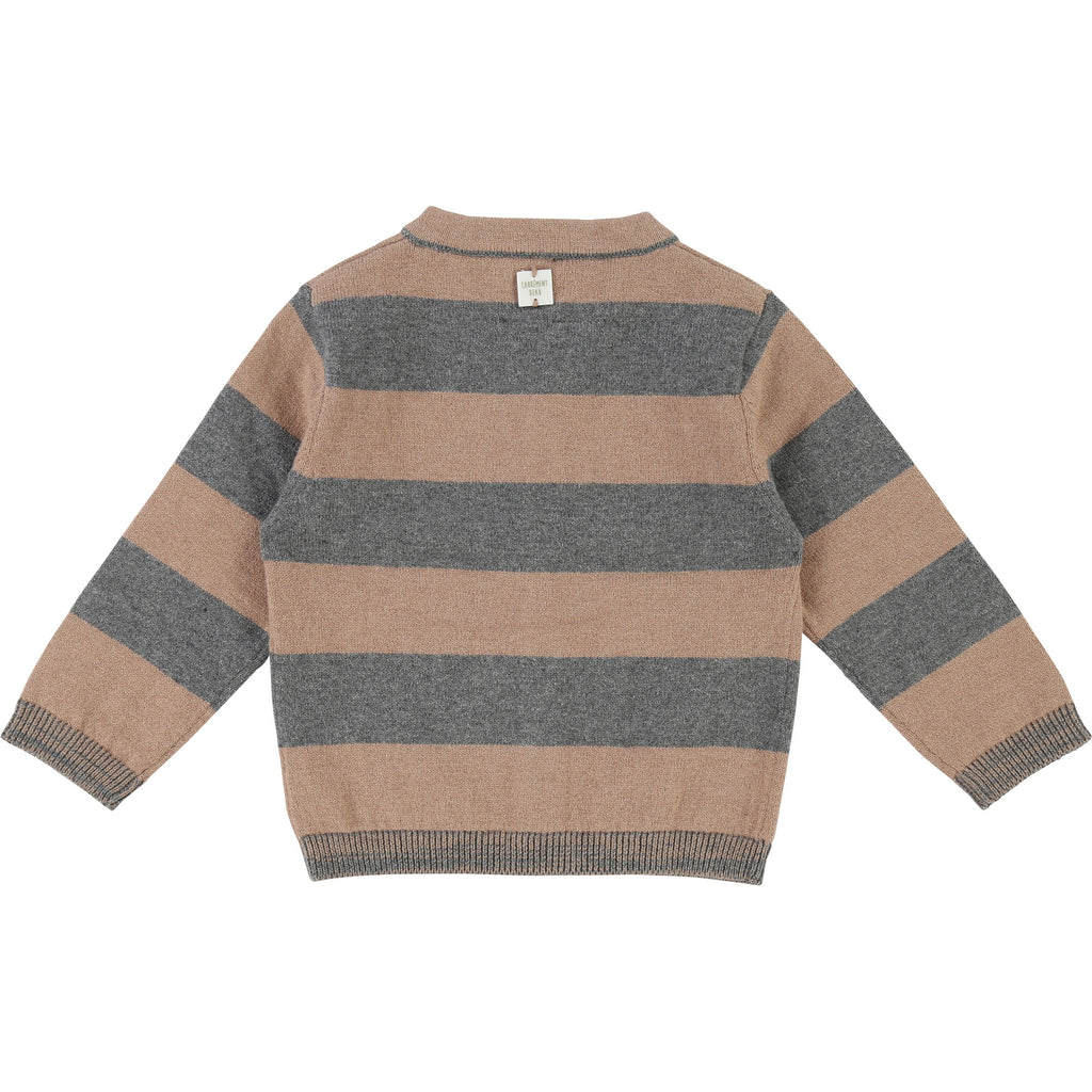 Boys Striped Cardigan