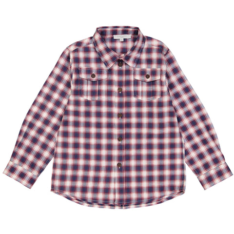 Boys Black & Grey Checked Shirt