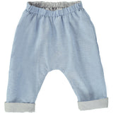 Baby Reversible Axel Trousers Azur Denim/Stone Gingham