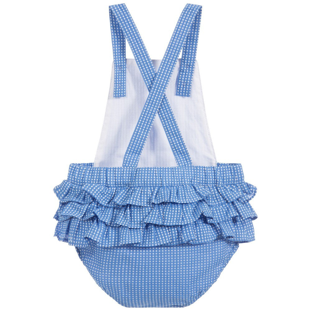 Baby Girl Blue Gingham Romper