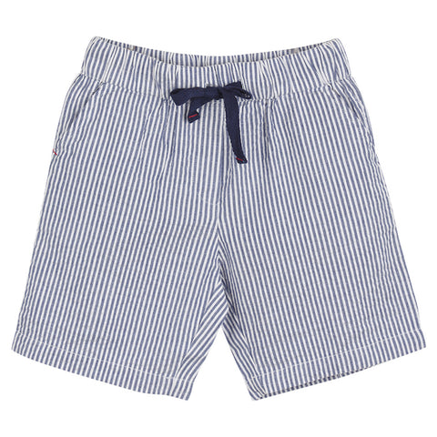 Boys Pale Blue Linen Shorts