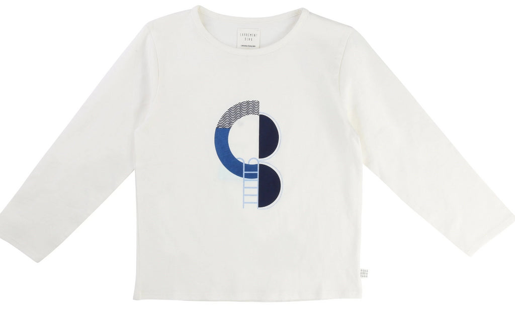 Boys Ivory Abstract T Shirt