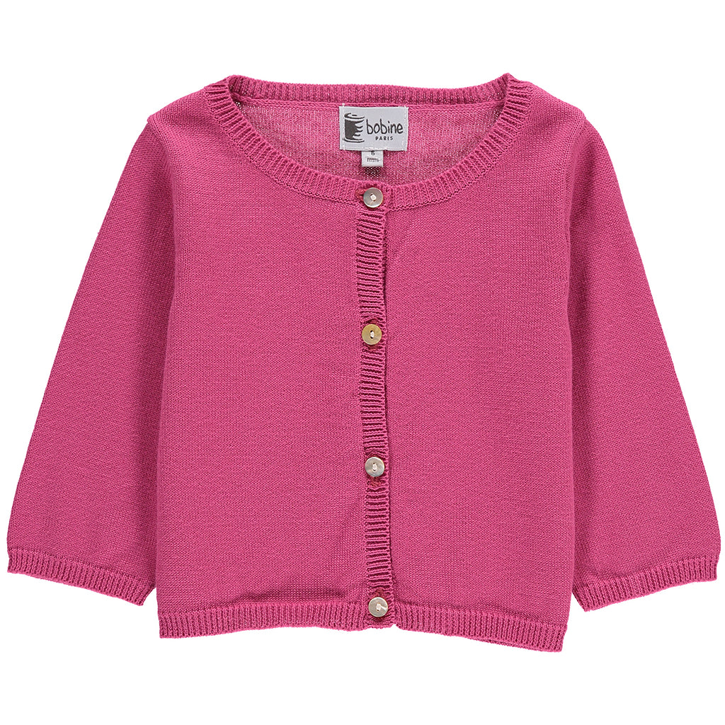 Baby Girl Raspberry Pink Cardigan