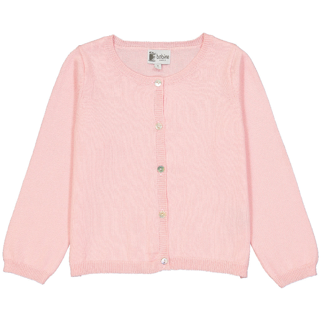 Girls Rose Cardigan