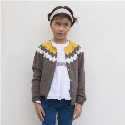 Girls Resli Taupe Cardigan