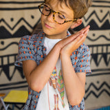 Boys Peppone Ethnic Print Shirt