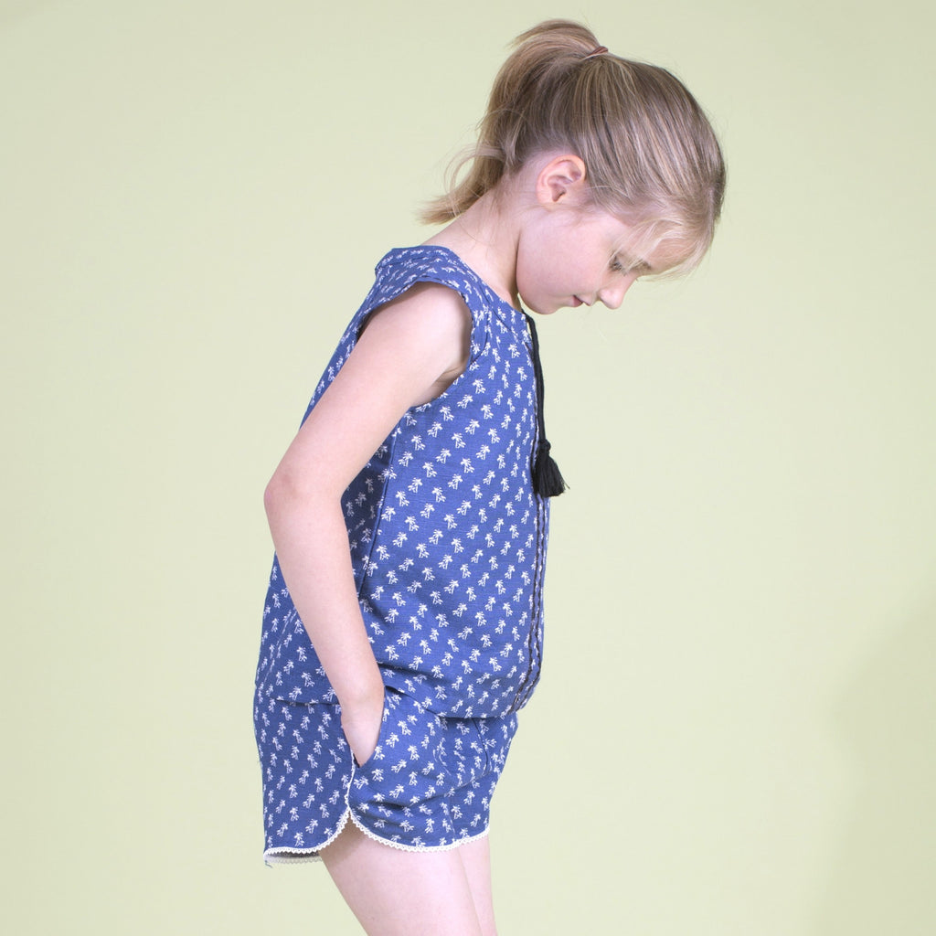 Girls Navy Colombe Shorts