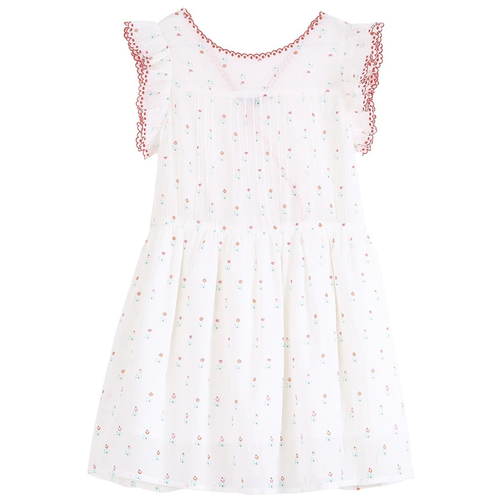 Girls Vintage Tulip Print Wrap Dress