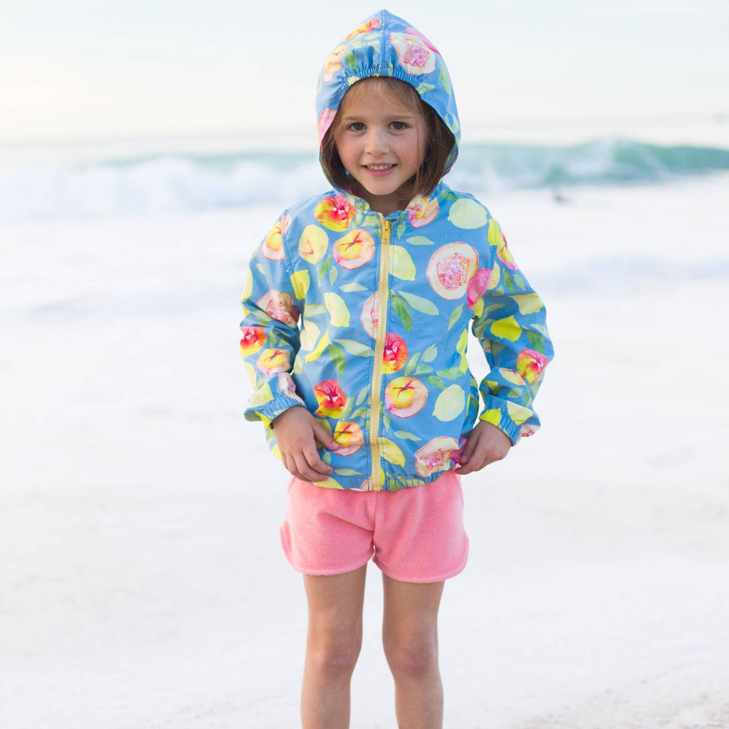 Girls & Boys Pasteuro Fruit Print Windbreaker