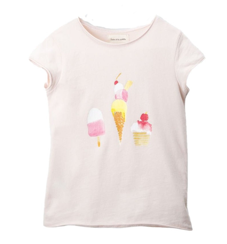 Girls Sandrine Nude Ice Cream T Shirt